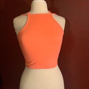 Crop top, orange top